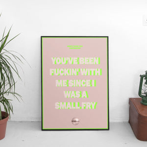 Amine - Compensating Lyrics Poster - The Fresh Stuff