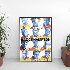 Brockhampton Saturation Faces Poster - The Fresh Stuff