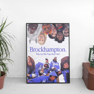 Brockhampton - Who Let The Dope Boys Out Vintage Poster - The Fresh Stuff
