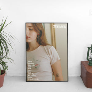 Clairo - Immunity Tracklist Poster - The Fresh Stuff