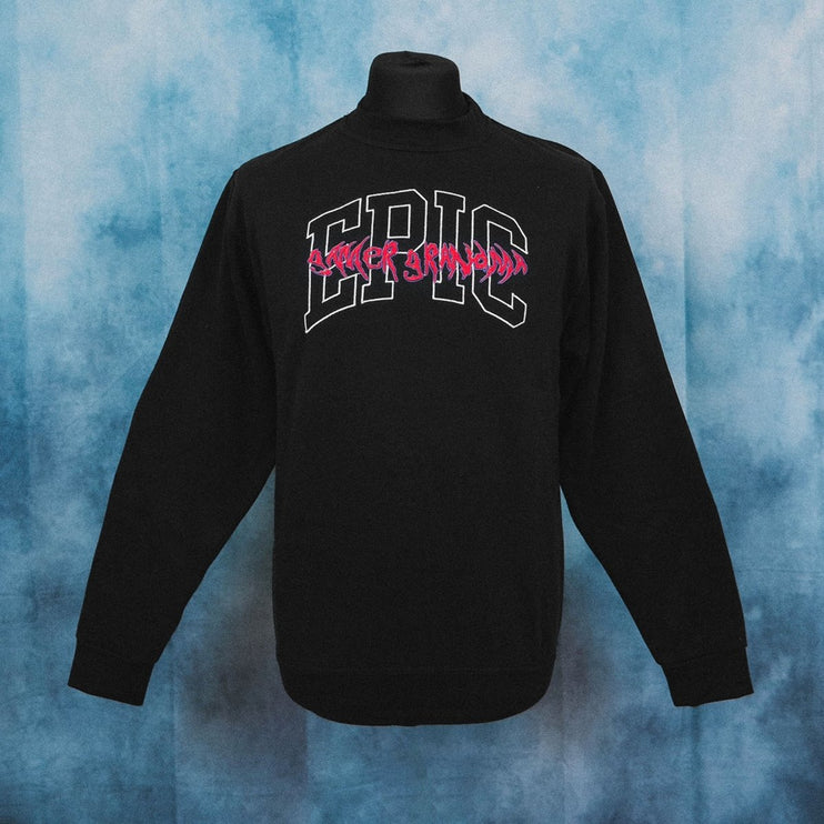 Epic Gamer Grandma - College Black Unisex Embroidered Sweater - The Fresh Stuff