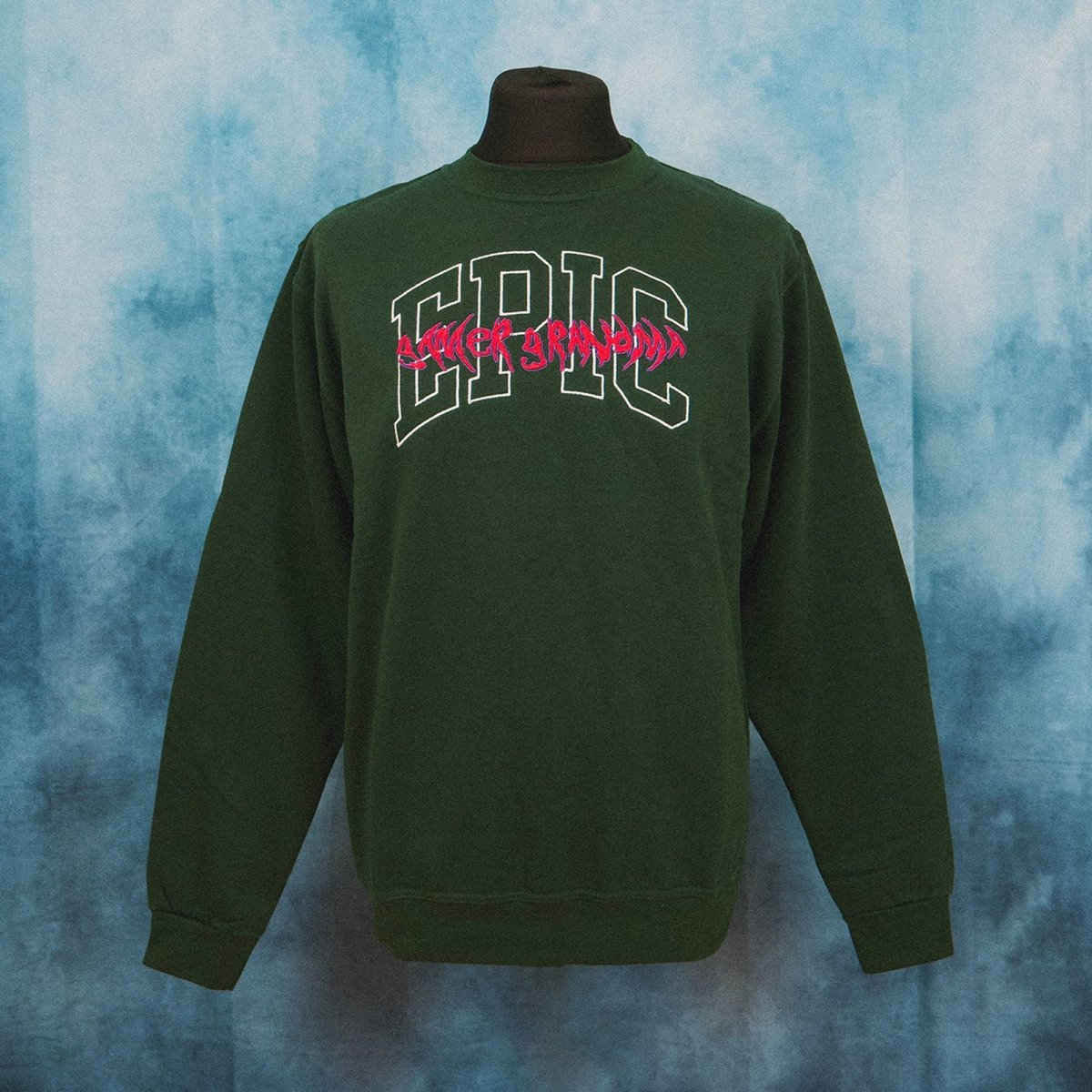 Epic Gamer Grandma - College Dark Green Unisex Embroidered Sweater - The Fresh Stuff