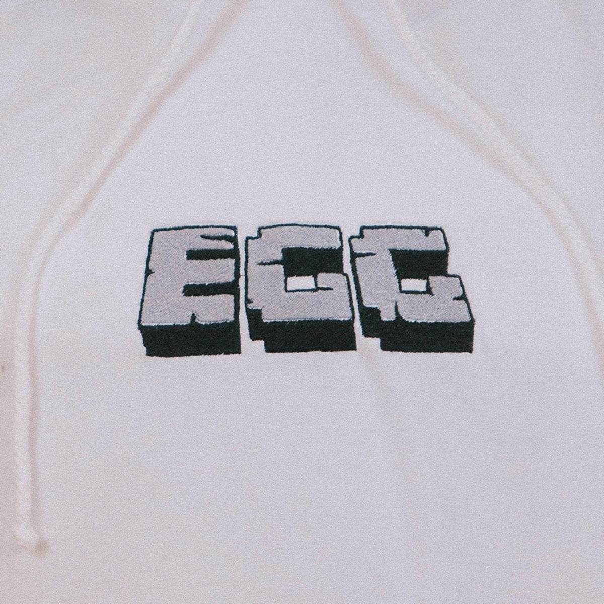 Epic Gamer Grandma - Minecraft EGG White Embroidered Hoodie - The Fresh Stuff