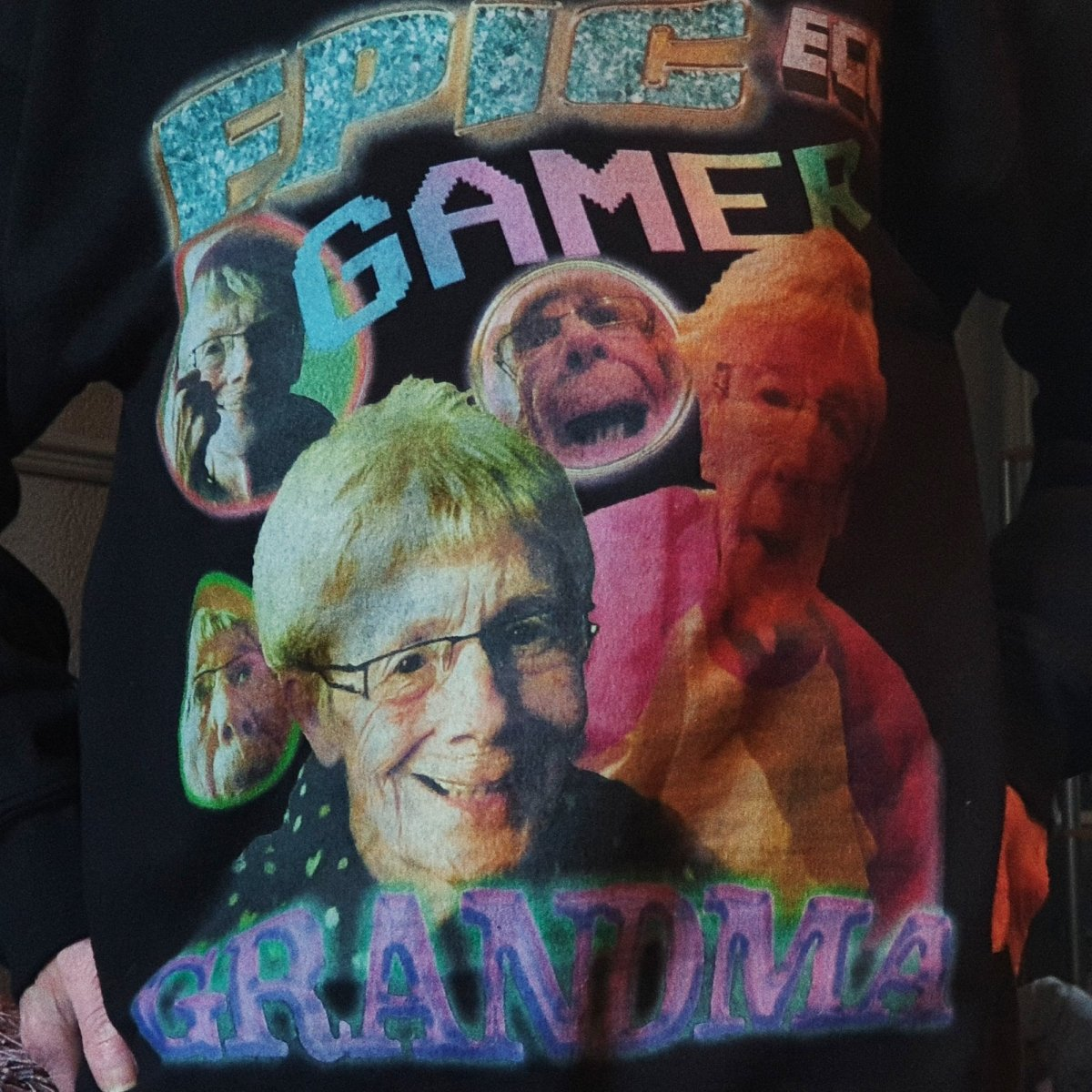 Epic Gamer Grandma - Vintage Bootleg Unisex Sweater - The Fresh Stuff