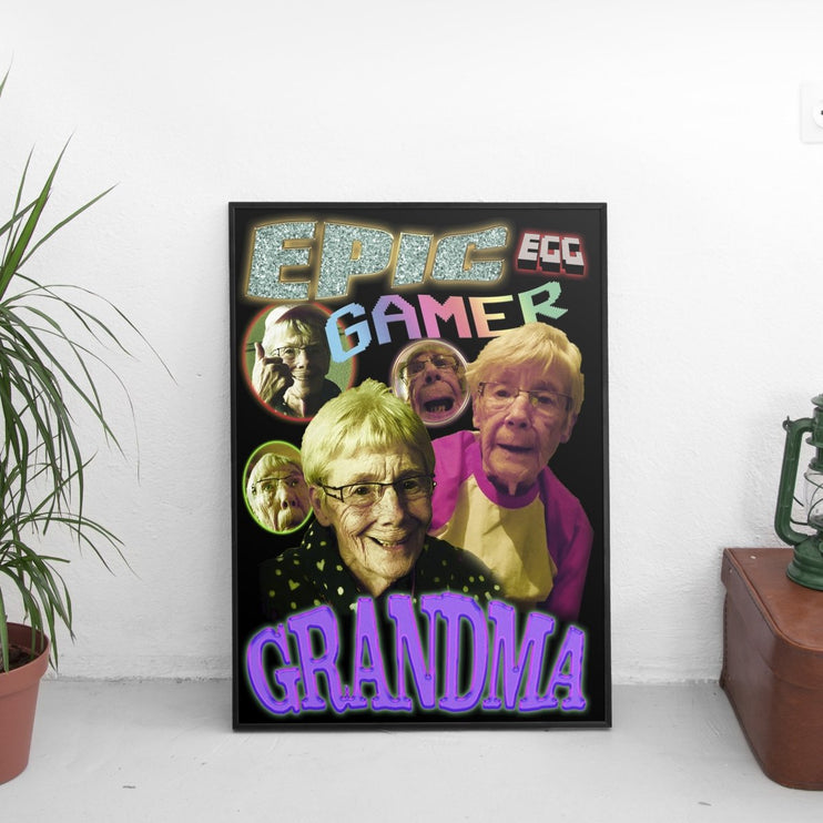 Epic Gamer Grandma - Vintage Poster - The Fresh Stuff