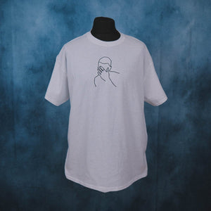 Frank Ocean - Blonde Cover Art Outline Unisex Embroidered T-Shirt - The Fresh Stuff