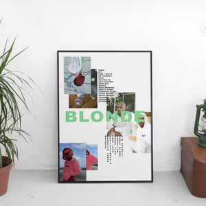 Frank Ocean - Blonde Mismatch Poster - The Fresh Stuff