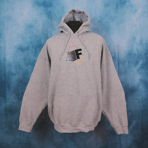 Fresh Vista Grey Unisex Embroidered Hoodie - The Fresh Stuff