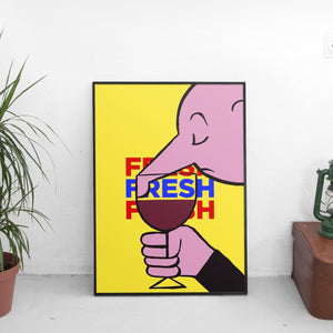 Fresh Wine Poster - The Fresh Stuff