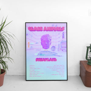Glass Animals - Dreamland Tracklist Poster - The Fresh Stuff