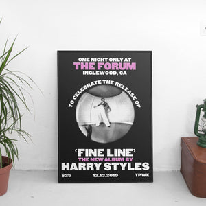 Harry Styles - Fine Line At The Forum Poster - The Fresh Stuff