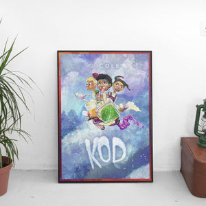 J Cole - KOD Kids Poster - The Fresh Stuff