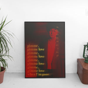 Joji - Gimme Love Lyrics Poster - The Fresh Stuff
