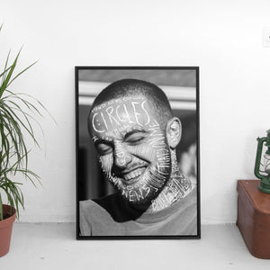 Mac Miller - Circles Scribble Poster - The Fresh Stuff