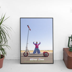 Oliver Tree - Scooter Poster - The Fresh Stuff