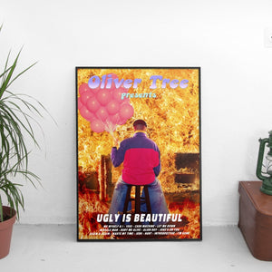 Oliver Tree - Ugly Is Beautiful Tracklist Poster - The Fresh Stuff