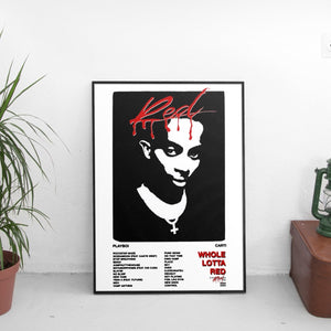 Playboi Carti - Whole Lotta Red Tracklist Poster - The Fresh Stuff