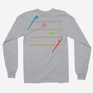 Rex Orange County - Pony Cascading Notes Unisex Long Sleeve T-Shirt - The Fresh Stuff