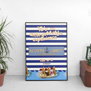 Scoops Ahoy - Stranger Things Poster - The Fresh Stuff