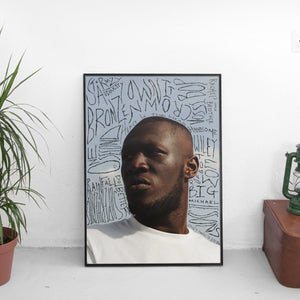 Stormzy - Heavy Is The Head Scribble Poster - The Fresh Stuff