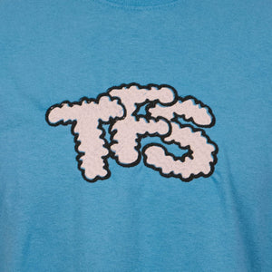 TFS Clouds Light Blue Unisex Embroidered Long Sleeve T-Shirt - The Fresh Stuff