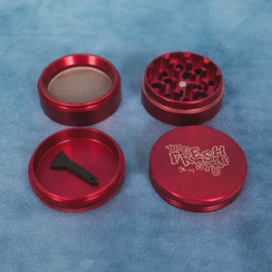 TFS Red Herb/Tobacco Grinder - The Fresh Stuff