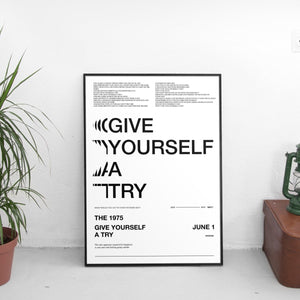 The 1975 - Give Yourself A Try Poster - The Fresh Stuff