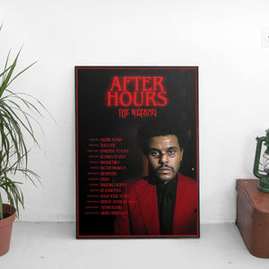 The Weeknd - After Hours Tracklist Poster - The Fresh Stuff