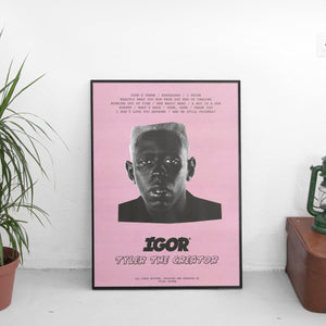 Tyler The Creator - Igor Tracklist Poster - The Fresh Stuff