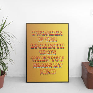 Tyler The Creator - See You Again Lyrics Poster - The Fresh Stuff