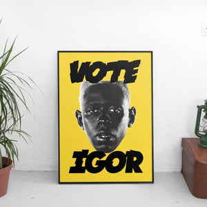 Tyler The Creator - Vote Igor Poster Yellow - The Fresh Stuff