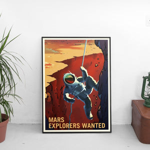 Vintage NASA Mars Explorer Poster - The Fresh Stuff