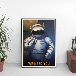 Vintage NASA We Want You Poster - The Fresh Stuff