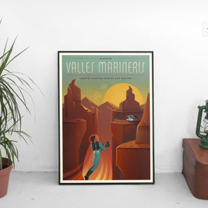 Vintage Valles Marineris (Tesla Mars) Poster - The Fresh Stuff