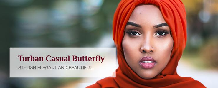 Turban Casual Butterfly
