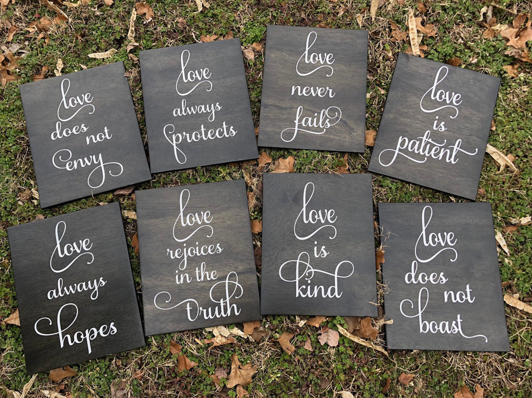1 Corinthians Wedding Aisle Signs