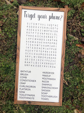 Load image into Gallery viewer, Bathroom Word Search - 12x24""