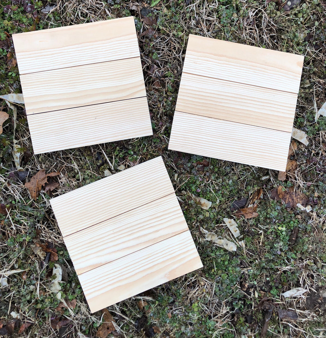 Blank Wood Sign - 3 Horizontal Pallet