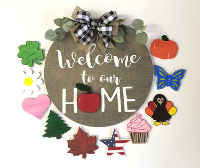 Welcome To Our Home Interchangeable Door Hanger