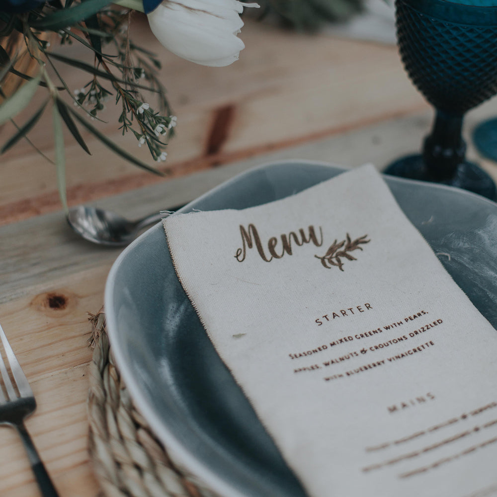 Serviette Menu 3