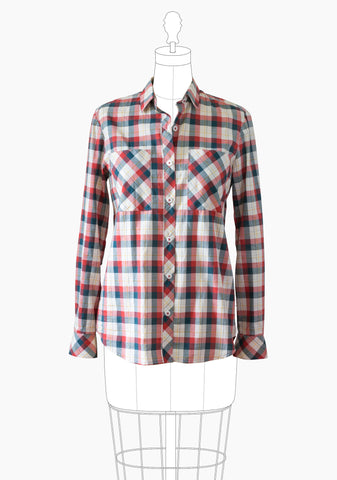 Molde Archer Button Up de Grainline