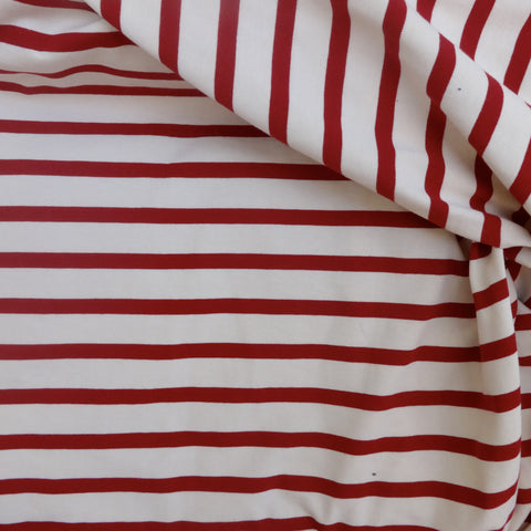Jersey de Algodão com Riscas Vermelhas | Red Striped Cotton Jersey