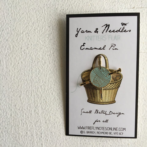 Pin Novelo e Agulha | Yarn and Needle Pin