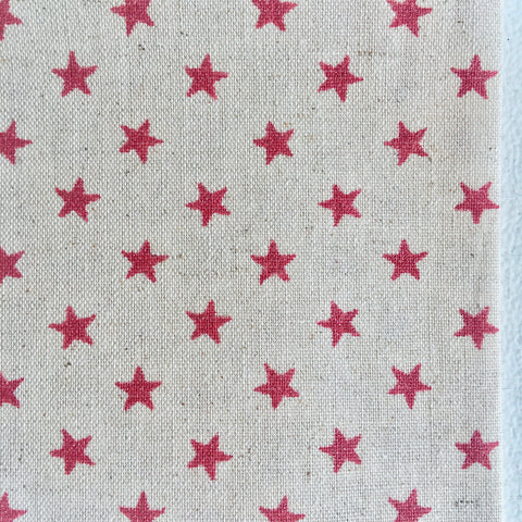 Glitter Red Stars on Natural