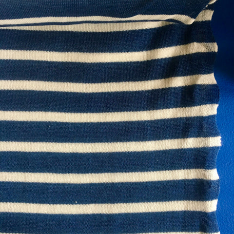 Kokka Cotton Knit Blue Stripes