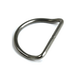 "Stainless Steel 2"" (51mm) D-Ring (Bent)"