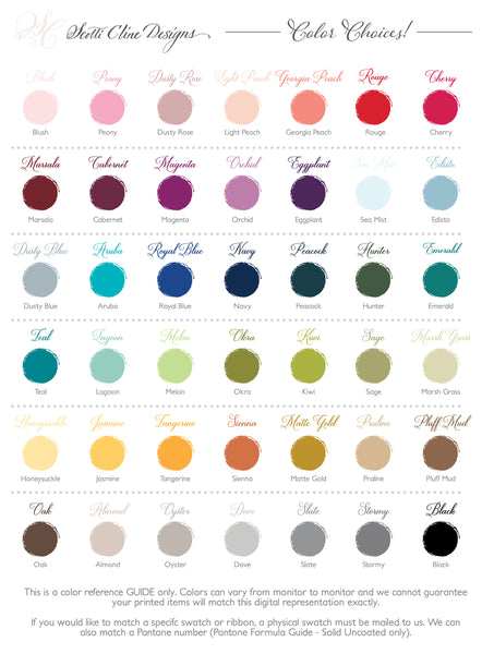 Scotti Cline Designs Color Choices