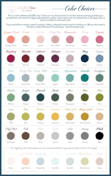 Scotti Cline Designs Color Options