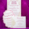 Die Cut Letterpress Wedding Invitation & Save the Date. Picture by Paige Winn Photography.