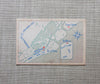 Beach Dunes Wedding Invitation vintage map details card